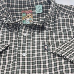 Pineapple Connection Button Front shirt Size M